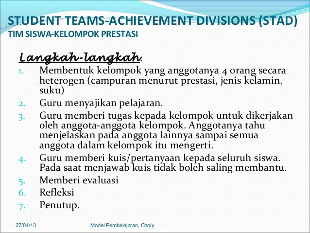 Teori Student Teams Achievement Division